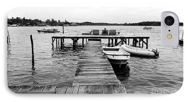 Black And White Dock Phone Case by John Rizzuto