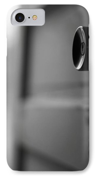 Black And White Door Handle IPhone Case by Dan Sproul