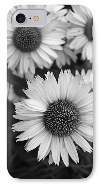 IPhone Case featuring the photograph Black And White Echinacea -  by Brooke T Ryan