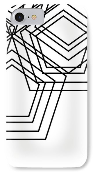 Black And White Geo IPhone Case