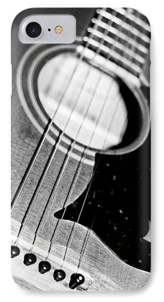 Black And White Harmony Guitar Phone Case by Athena Mckinzie