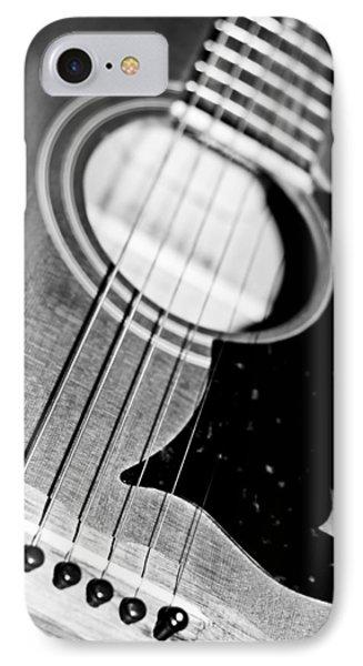 Black And White Harmony Guitar IPhone Case by Athena Mckinzie