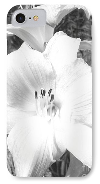 Black And White Hibiscus  By Saribelle Rodriguez IPhone Case by Saribelle Rodriguez