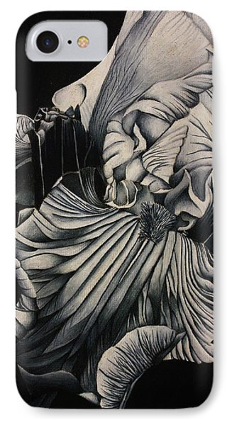 Black And White Iris Study Phone Case by Bruce Bley