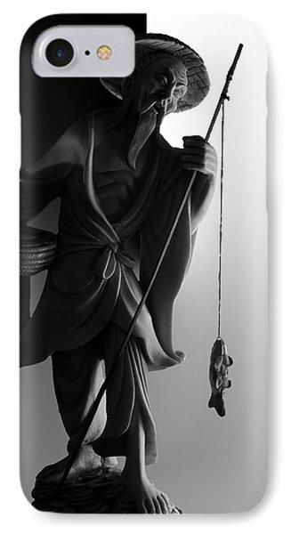 Black And White Ivory Fisherman Phone Case by Sean Kirkpatrick