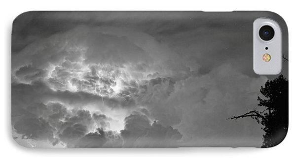 Black And White Light Show Phone Case by James BO  Insogna