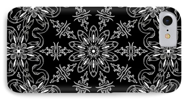 Black And White Medallion 11 Phone Case by Angelina Vick