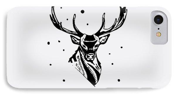 T Shirts iPhone 7 Case - Black And White Monochrome Emblem by Kbibibi