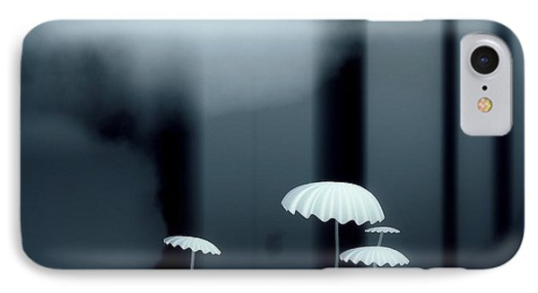Black And White Mushrooms Phone Case by GuoJun Pan