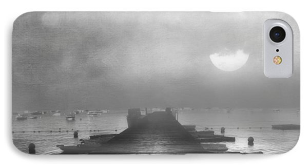 Black And White Mystery- From The Moon To The Mist IPhone Case