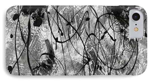 Black And White IPhone Case by Nancy Merkle