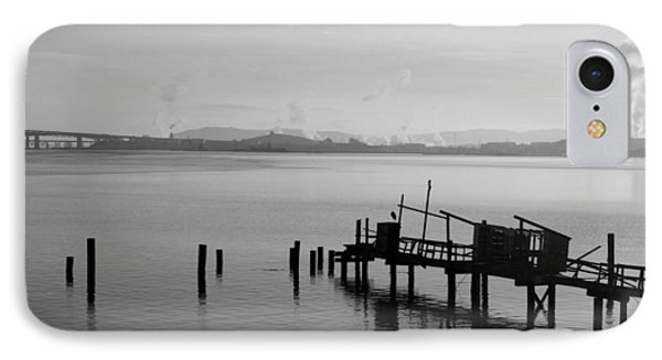 Black And White Oakland Bay IPhone Case by Deprise Brescia