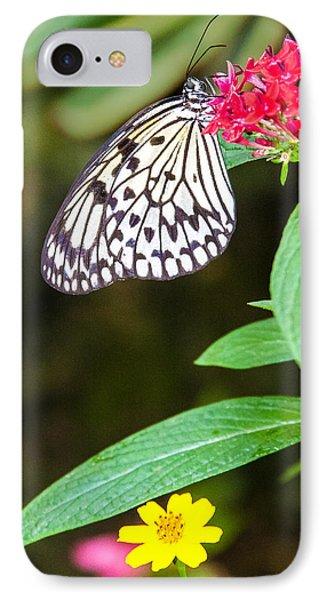 Black And White On Penta IPhone Case by Karen Stephenson