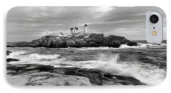 Black And White Painted Seascape IPhone Case by Sharon Seaward