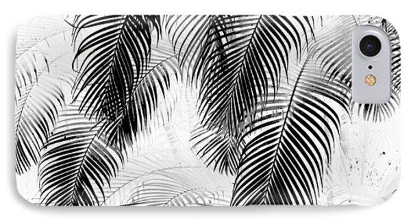 Black And White Palm Fronds Phone Case by Karon Melillo DeVega