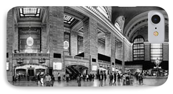 Black And White Pano Of Grand Central Station - Nyc Phone Case by David Smith