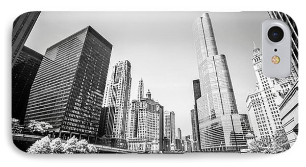 Black And White Picture Of Downtown Chicago IPhone Case