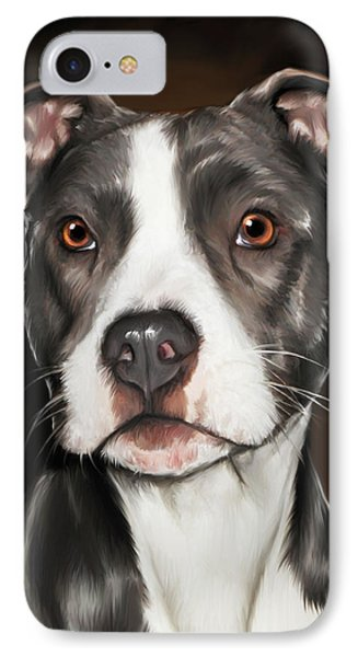 Black And White Pit Bull Terrier IPhone Case