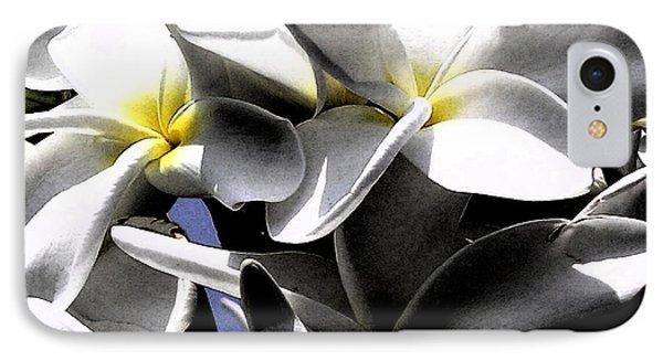 Black And White Plumeria IPhone Case by Karen Nicholson