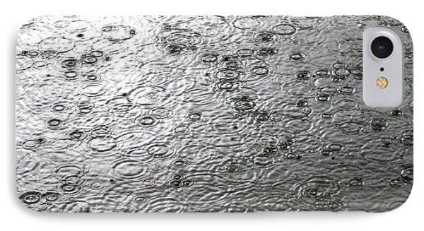 Black And White Rain IPhone Case