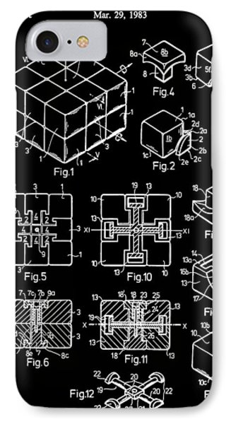 Black And White Rubik's Cube Patent IPhone Case by Dan Sproul