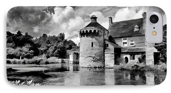 Scotney Castle In Mono IPhone Case
