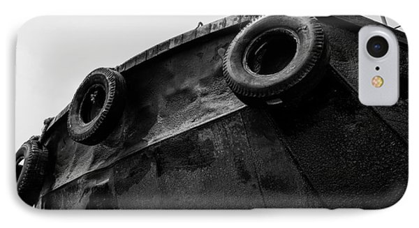 Black And White Stern With Ladder And Tires IPhone Case