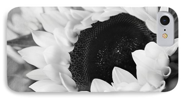 IPhone Case featuring the photograph Black And White Sunflower by Eden Baed