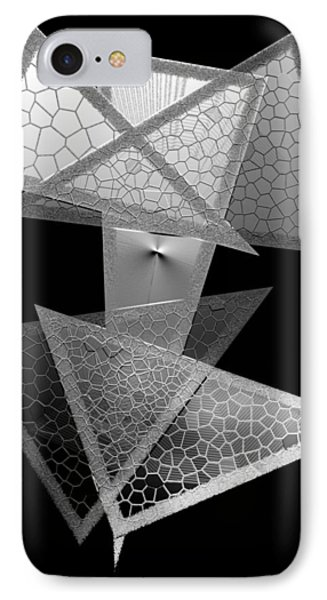 Black And White Triangles Phone Case by Mario Perez