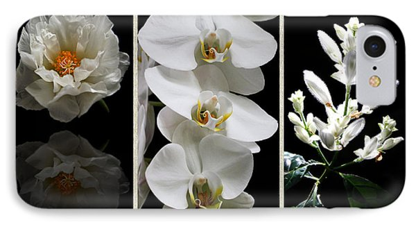 Black And White Triptych IPhone Case by Judy Vincent