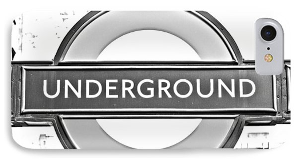 Black And White Underground IPhone 7 Case by Georgia Fowler