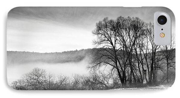Black And White Winter Landscape With Trees Phone Case by Matthias Hauser