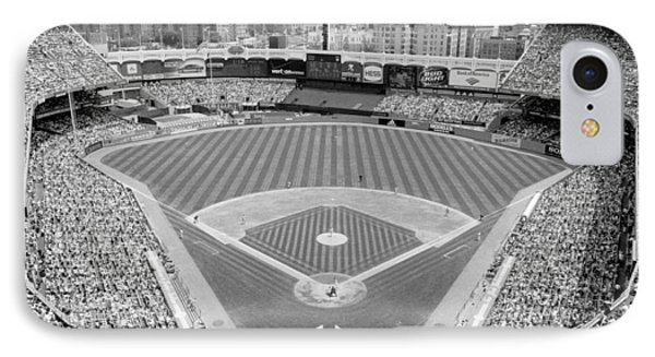 Yankee Stadium iPhone 7 Case - Black And White Yankee Stadium by Horsch Gallery