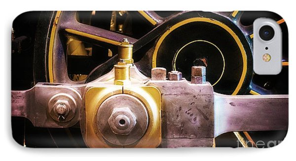 Black And Yellow Loco Wheel IPhone Case by Joseph J Stevens