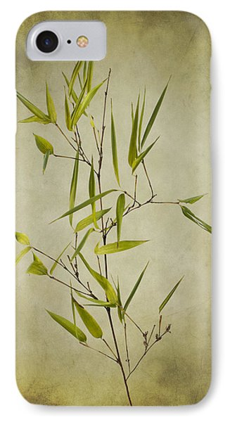Black Bamboo Stem. Phone Case by Clare Bambers