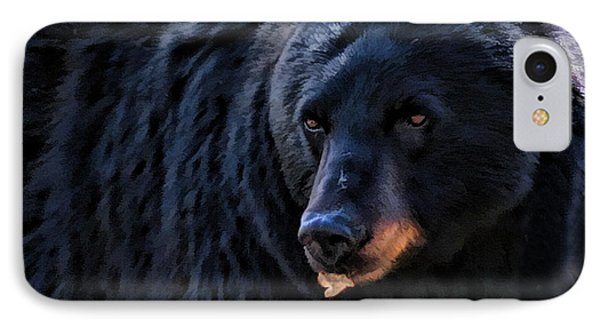 Black Bear IPhone Case by Clare VanderVeen