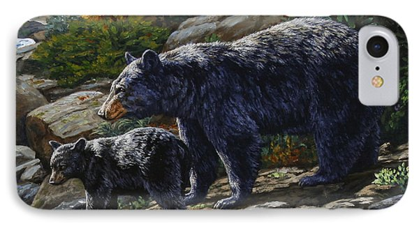 Black Bear Falls - Detail IPhone Case by Crista Forest