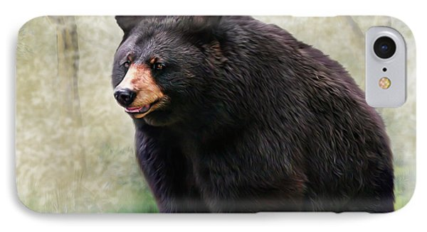 IPhone Case featuring the painting Black Bear by Mary Almond