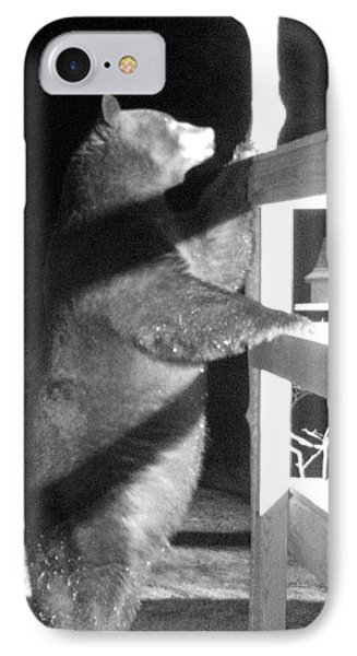 IPhone Case featuring the photograph Black Bear by Mim White