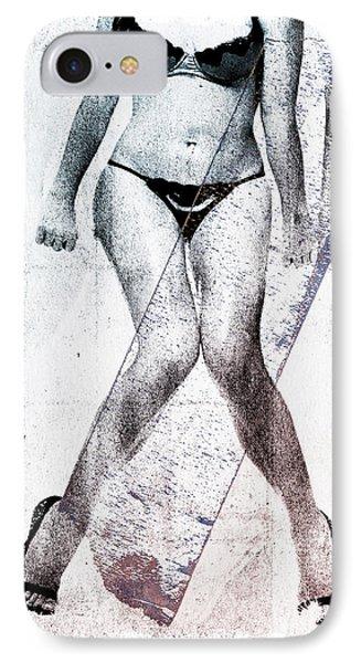 Black Bikini Phone Case by David Ridley