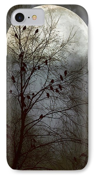 Black Birds Singing In The Dead Of Night IPhone Case by John Rivera