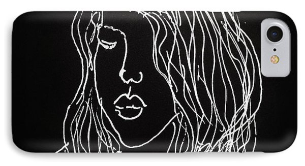 IPhone Case featuring the drawing Black Book 07 by Rand Swift