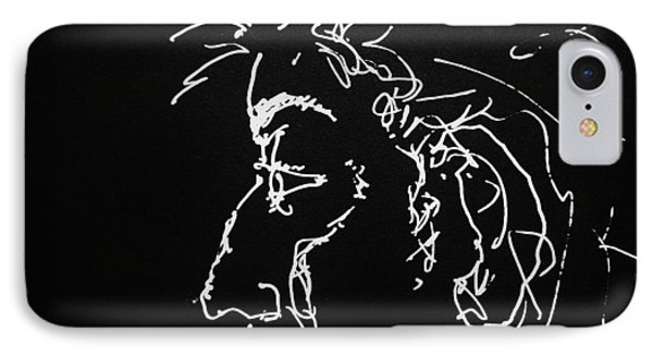 IPhone Case featuring the drawing Black Book 10 by Rand Swift