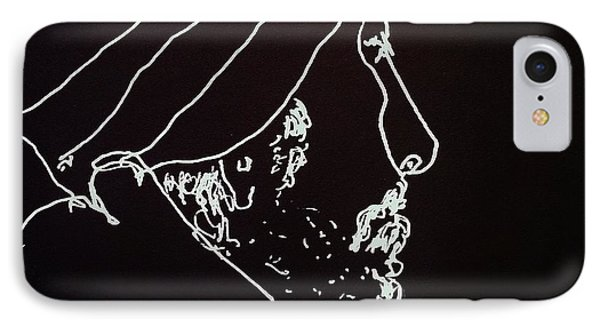 IPhone Case featuring the painting Black Book Series 03 by Rand Swift