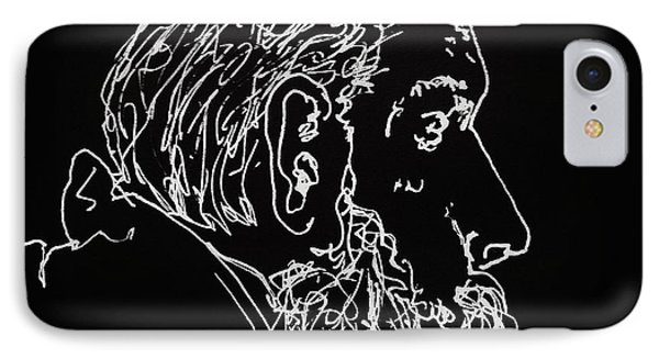 IPhone Case featuring the drawing Black Book Series 05 by Rand Swift