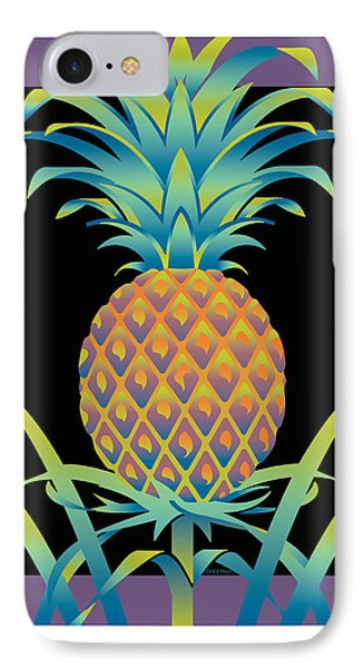 Black Bromeliad IPhone Case
