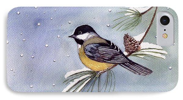 Black-capped Chickadee IPhone Case by Katherine Miller