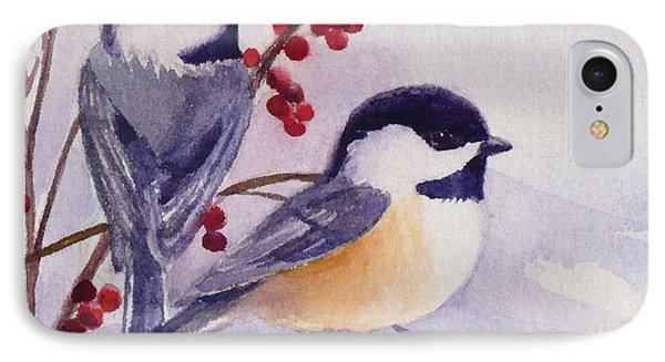 Black-capped Chickadees IPhone Case by Janet  Zeh