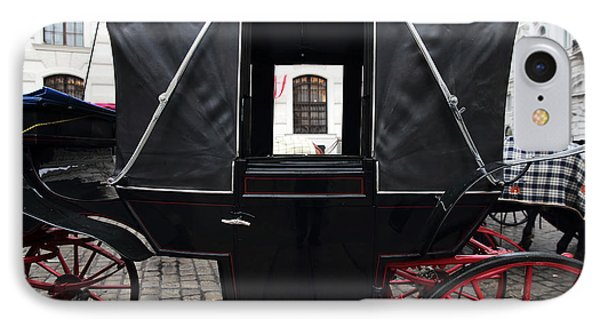 Black Carriage In Vienna IPhone Case