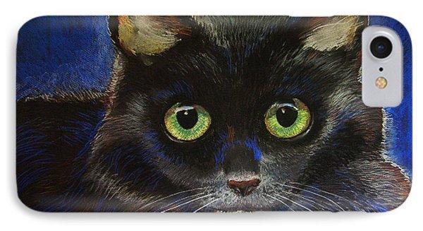 Black Cat Phone Case by Dan Terry